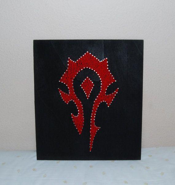 Horde Symbol Picture World Of Warcraft String Art