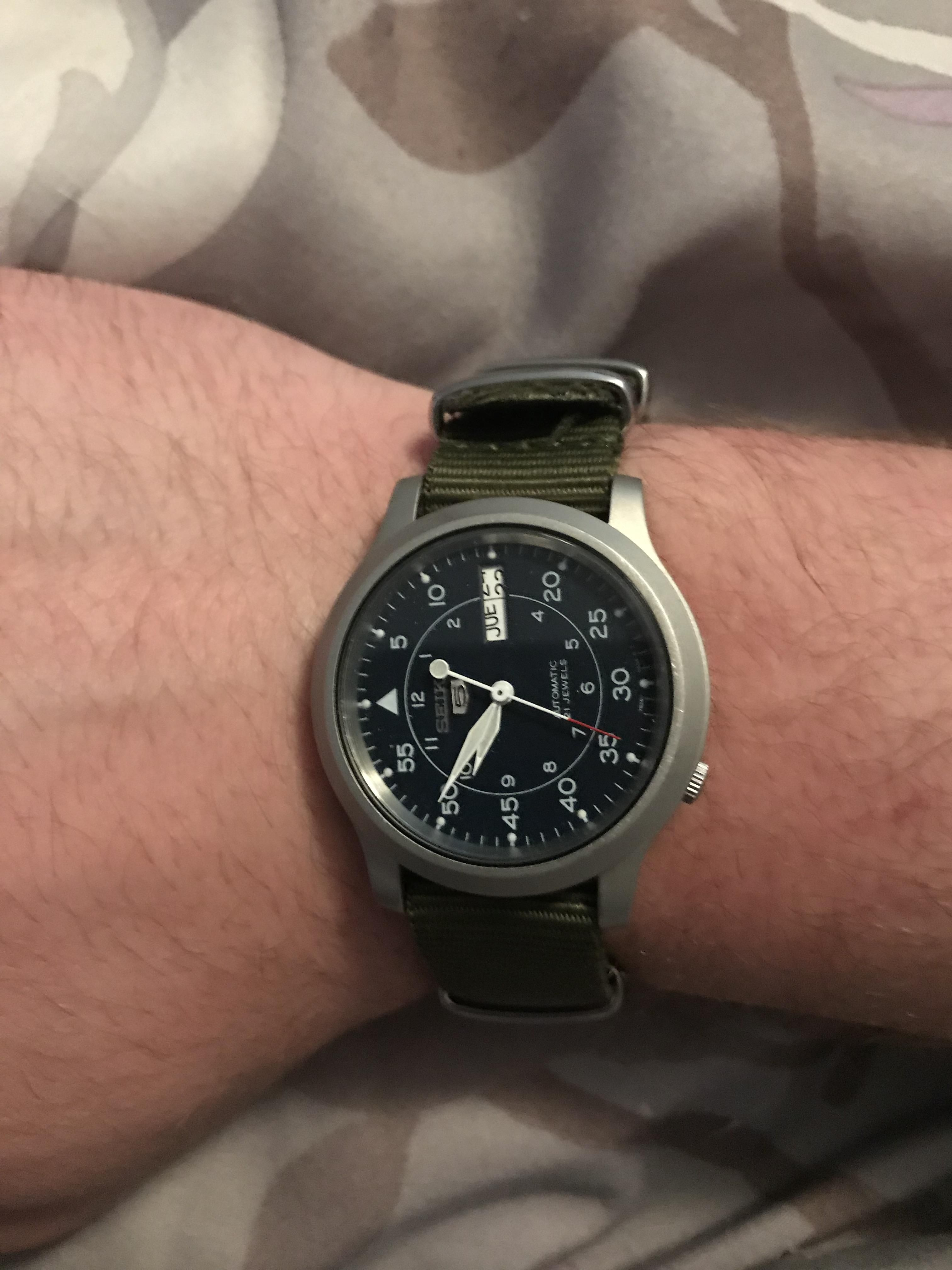 [Seiko] Accidentally ran my SNK807 through the washer and dryer and it came  out
