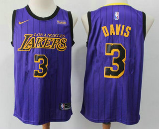 2020 Men S Los Angeles Lakers 3 Anthony Davis 2019 Purple Stripe Nike Swingman Wish Stitched Nba Je In 2020 Los Angeles Lakers Anthony Davis Lakers