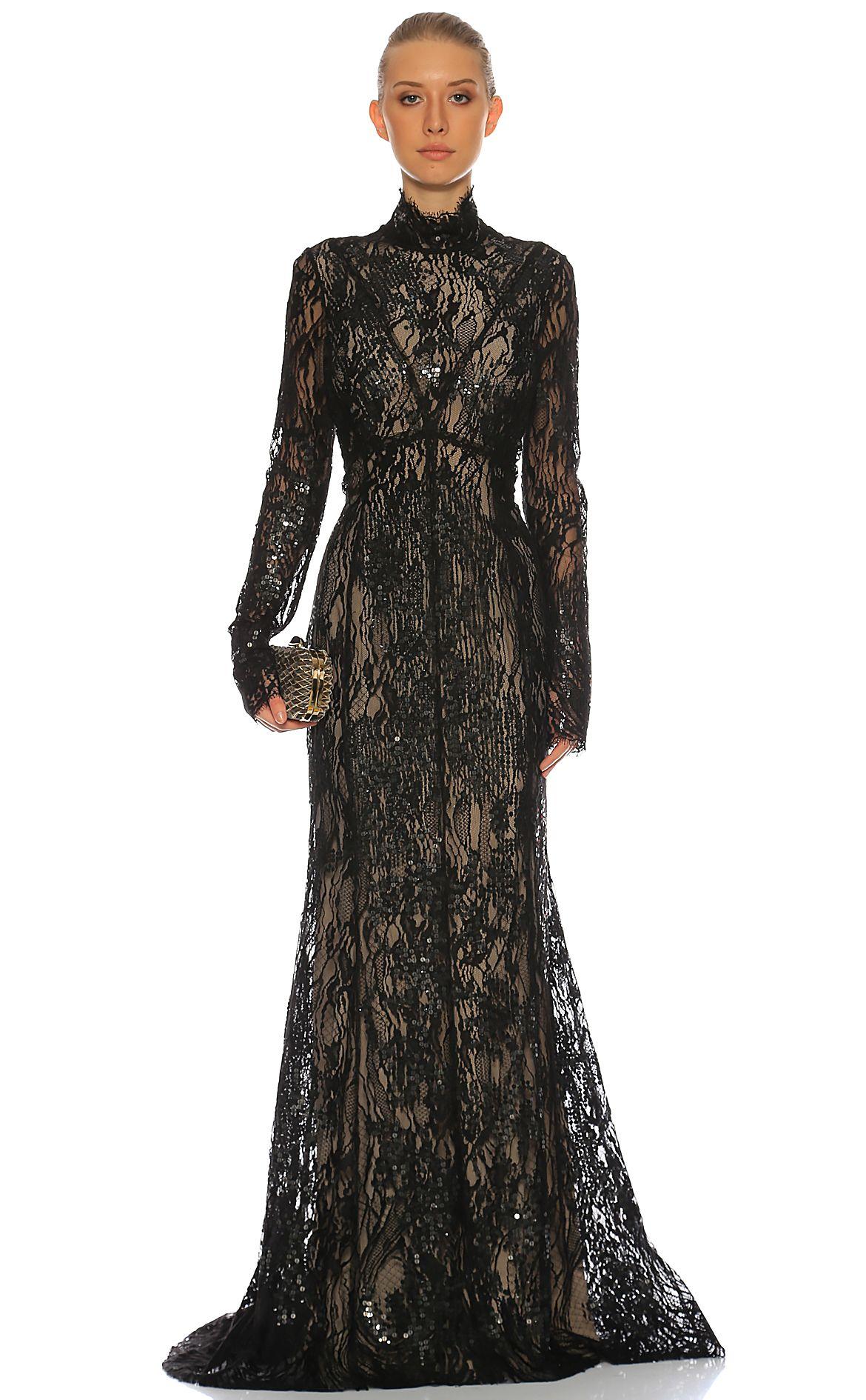 J Mendel J Mendel Gece Elbisesi Siyah Dantel Transparan Ve Zarif Elegant Davet Elbise Kadin Giyim Giyim Moda