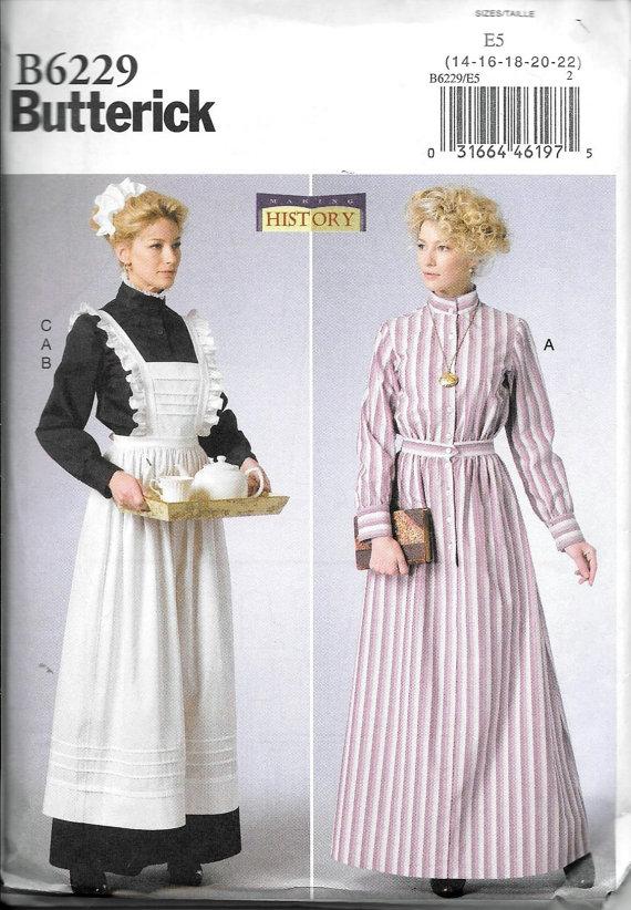 Butterick Pattern B6229 Women\'s Edwardian Historical Costume Dress ...