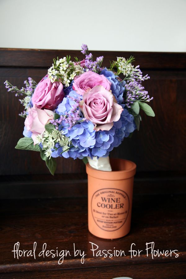 Light Blue And Purple Wedding Flowers