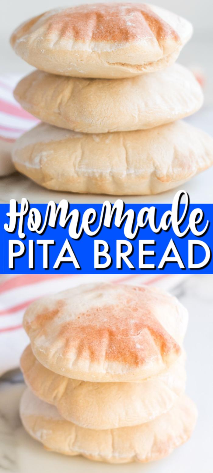 Homemade Pita Bread Homemade Pita Bread Pita Bread Easy Bread Recipes