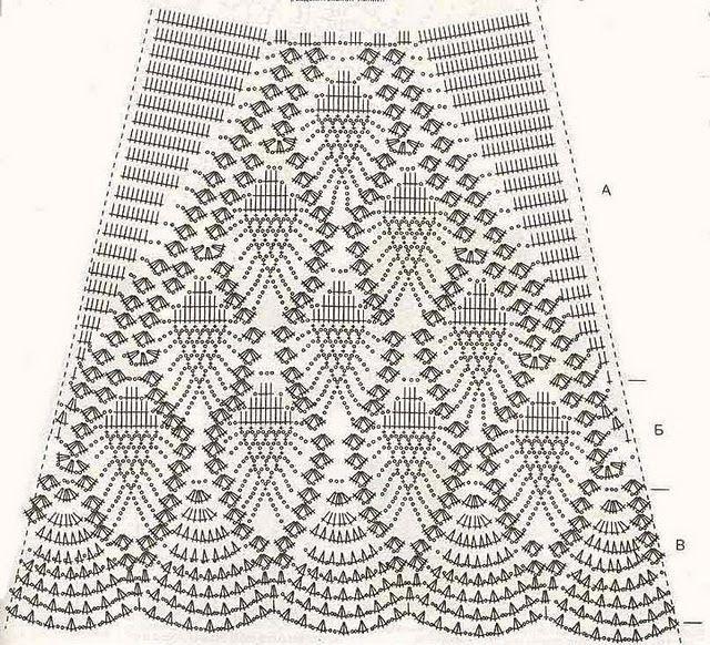 Схема вязанной юбочки