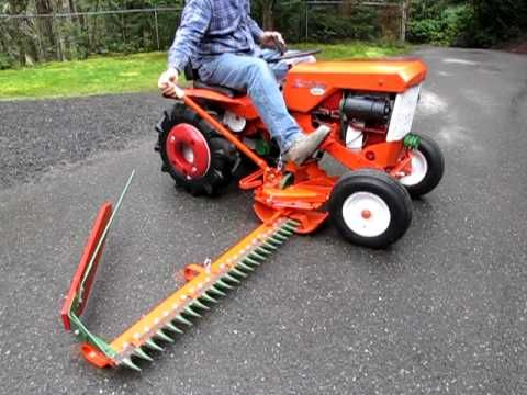 Simplicity 725 Tractor With Sickle Bar Mower Youtube Garden Tractor Attachments Simplicity Tractors Tractors