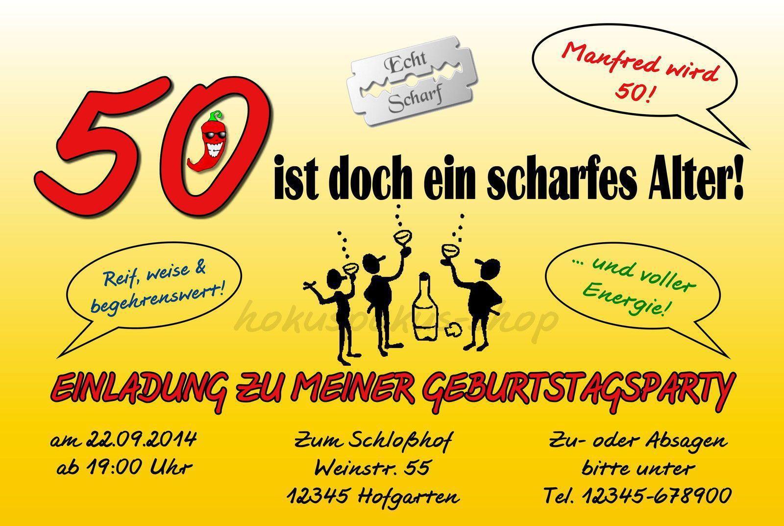 Lustige Einladungskarten 50 Geburtstag Kostenlos 1
