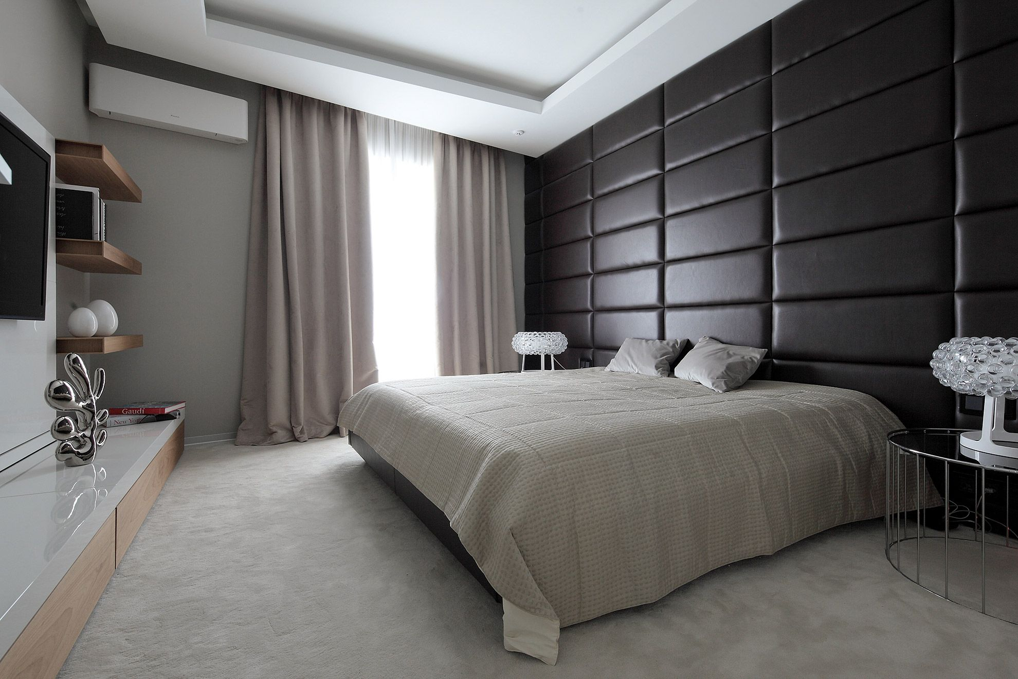 Faux leather panels in a bedroom | Bedrooms | Pinterest | Bedrooms ...