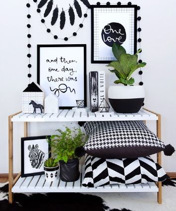 Make a monochrome statement on a Mocka Jimmy Stand. Styled by @oh.eight.oh.nine.