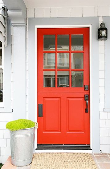 8 Inspiring Ways To Amp Up Your Curb Eal Colored Doororange Redorange