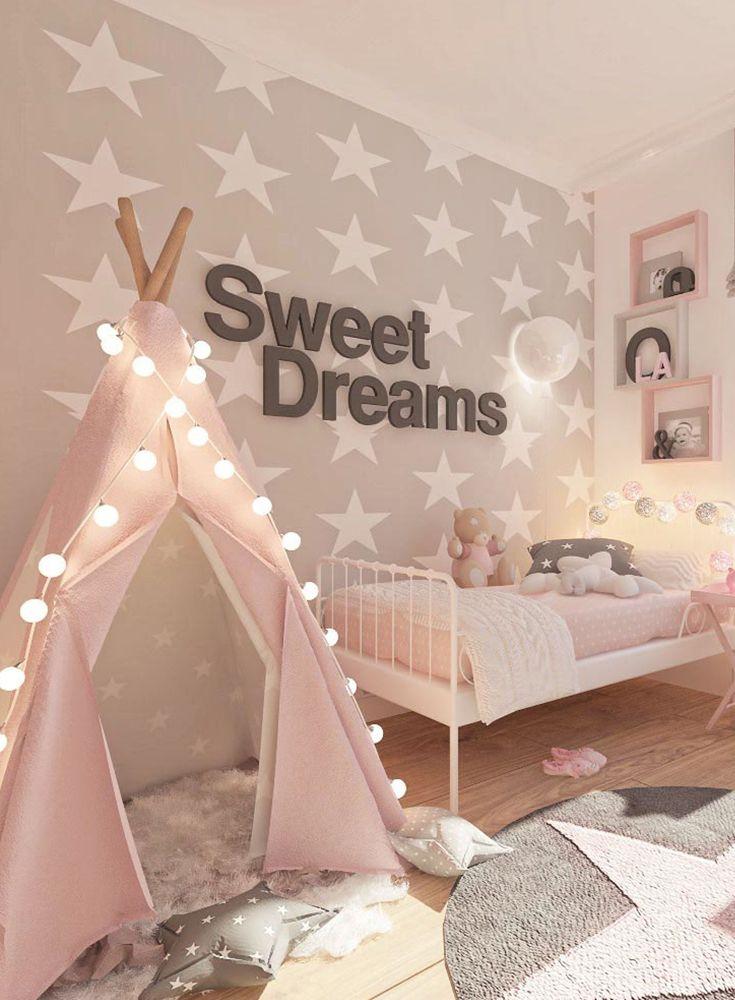 Sweet Dreams - Eine Gestaltungsidee für ein Mädchenzimmer in rosa #girlrooms