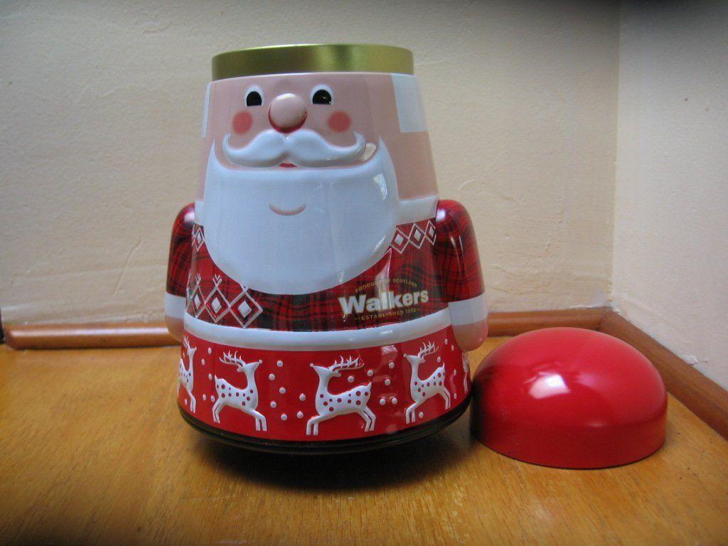Christmas time metal tin
