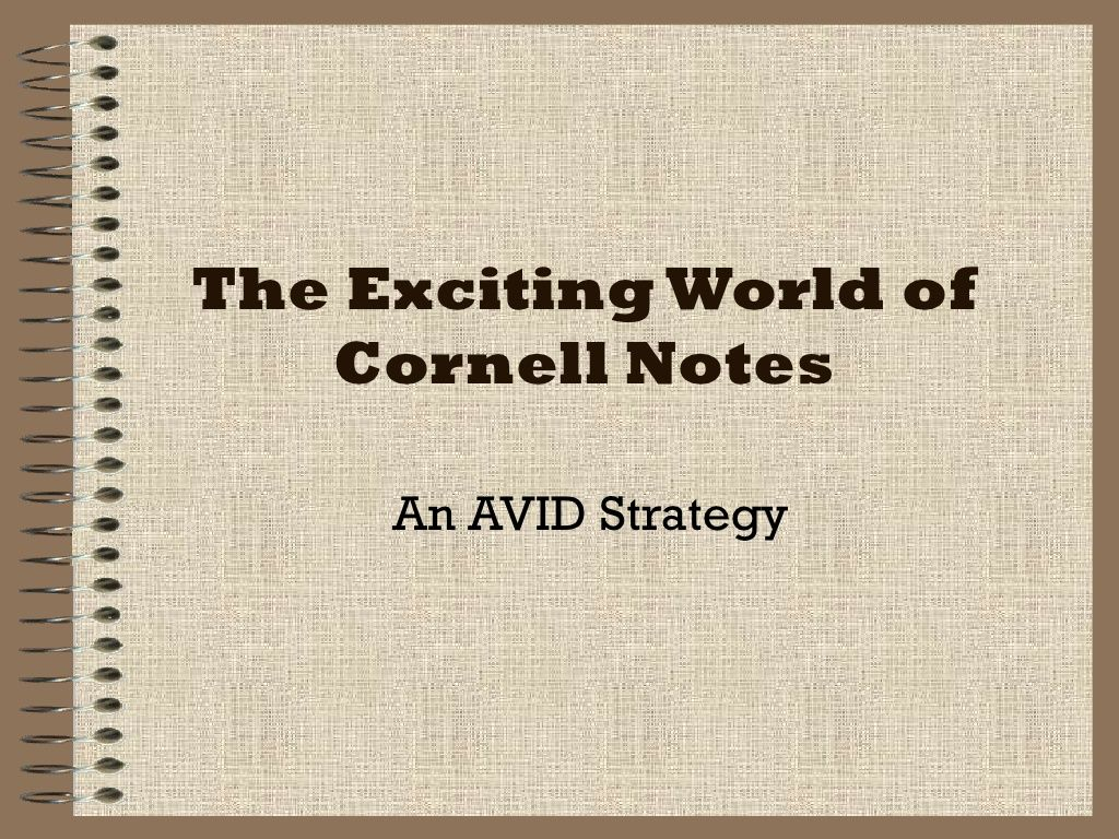 Intro To Cornell Notes By Dvoso1 Via Slideshare