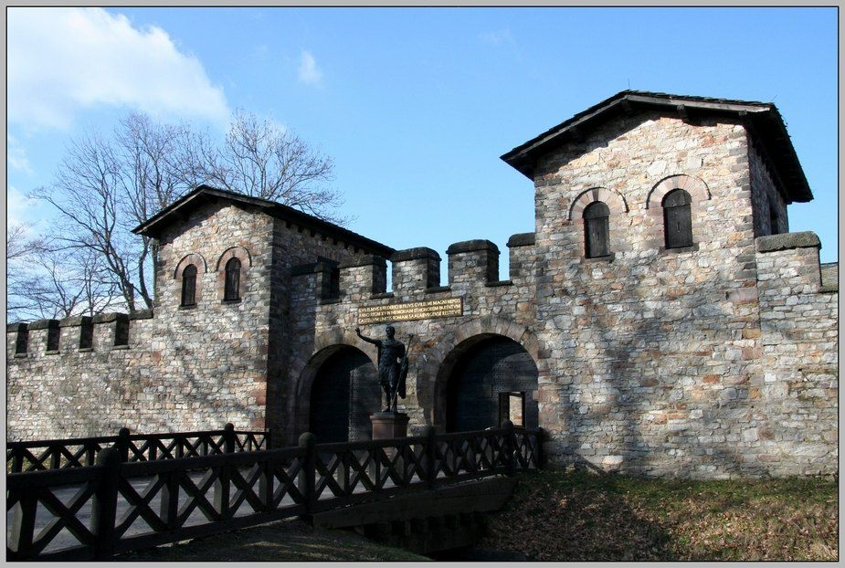 The Saalburg in the Taunus, a reconstructed Roman fortress from the second century AD.