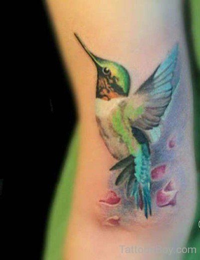 This Delicate Watercolour Bird Color Tattoo Body Art Tattoos