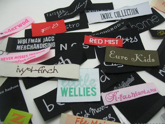 300 Custom Name Label For Clothing