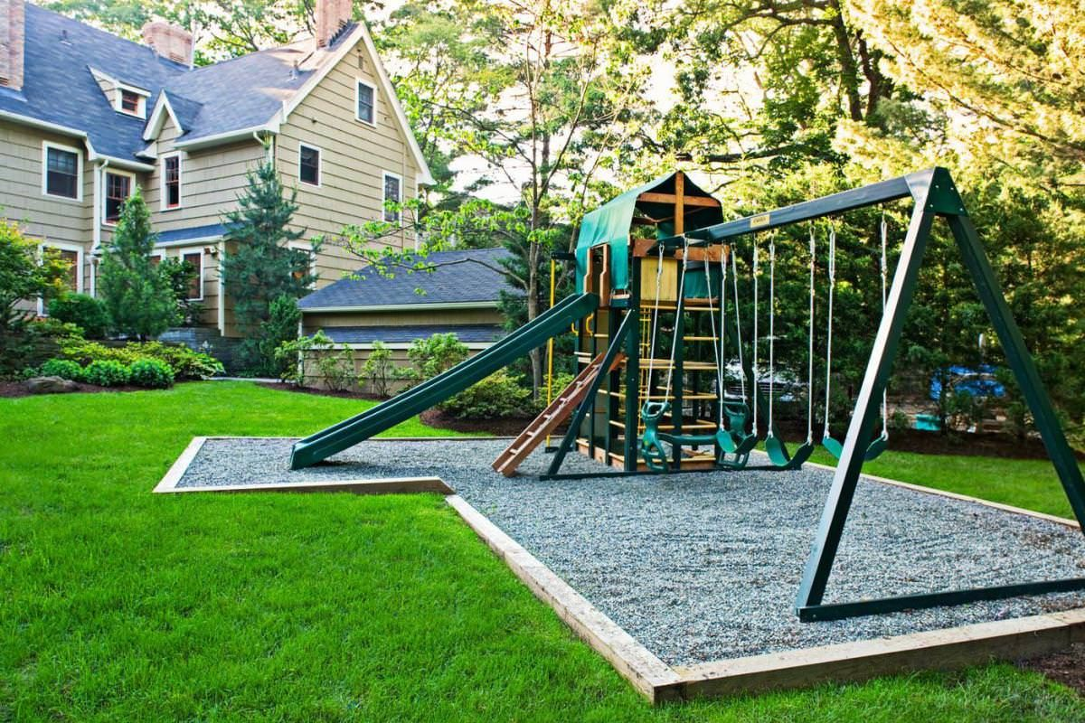 Playground Ideas For Backyard in ground trampoline are safer way to jump high in your backyard kid backyardbackyard playgroundplayground ideasbackyard Backyard Playground Design Ideasjpg 1200800