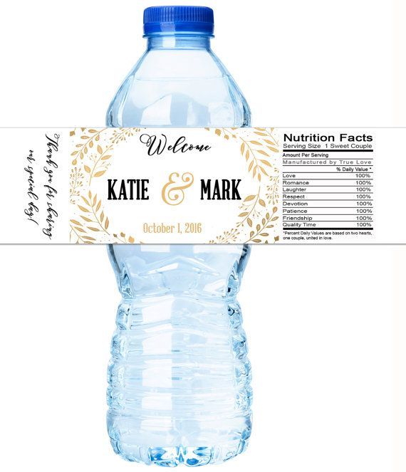 30 Wedding Water Bottle Labels Wedding by GreatLittleFavorCo