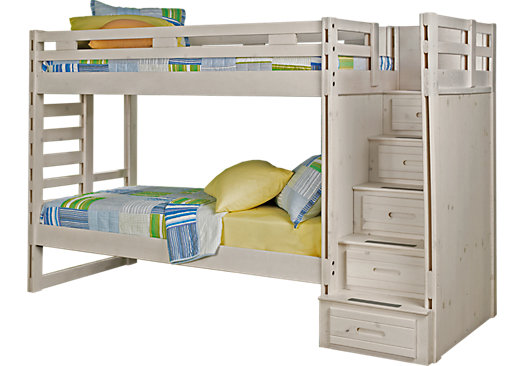 Creekside Stone Wash Twin Twin Step Bunk Bed 849 99 102l X 42w X 68h Find Affordable Beds For Your Ho Bunk Beds With Stairs Kids Bunk Beds Girls Bunk Beds