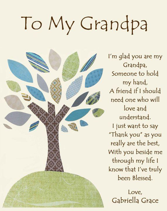 Grandfather gift - Personalized gift for Grandpa - Gift from children to Grandpa -Grandpa Gift, Grandpa Birthday Gift, Father's Day Gift