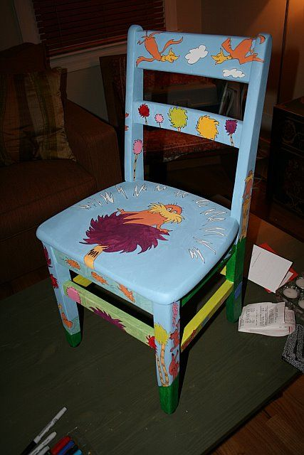 lorax chair for library auction unless across the top dr