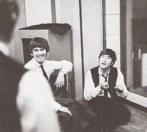 George Harrison and John Lennon