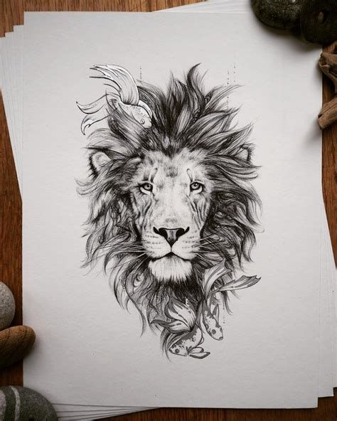 Lion Mandala Tattoo Drawing – Tatto Variant