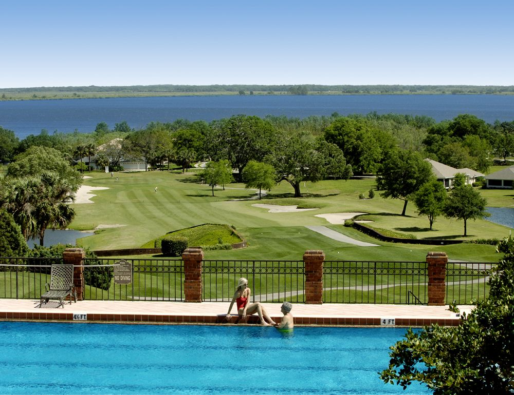 View From Our Junior Olympic Sized Swimming Pool Of Lake Griffin Part Of The Chain Of Lakes