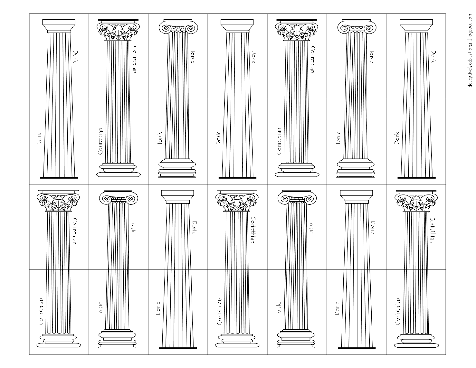 Ancient Greek Temple Building Game Printable With