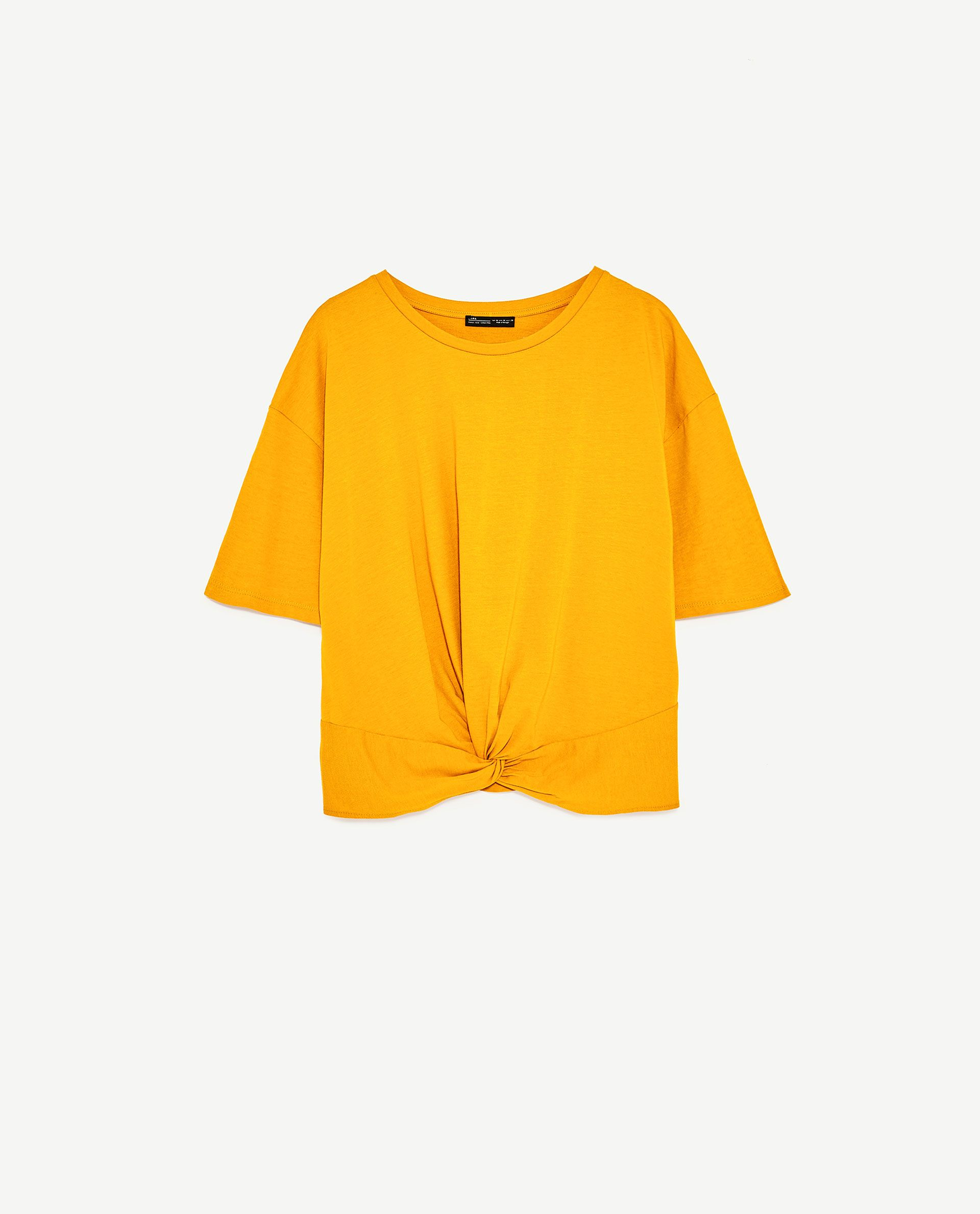 0f4481b3935 Image 8 of KNOTTED T-SHIRT from Zara Zara Shop