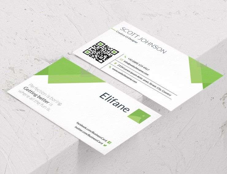 This Is A Free Green Corporate Business Card Template Designed By The Guys At Template Craze Business Card Template Corporate Business Card Business Card Psd