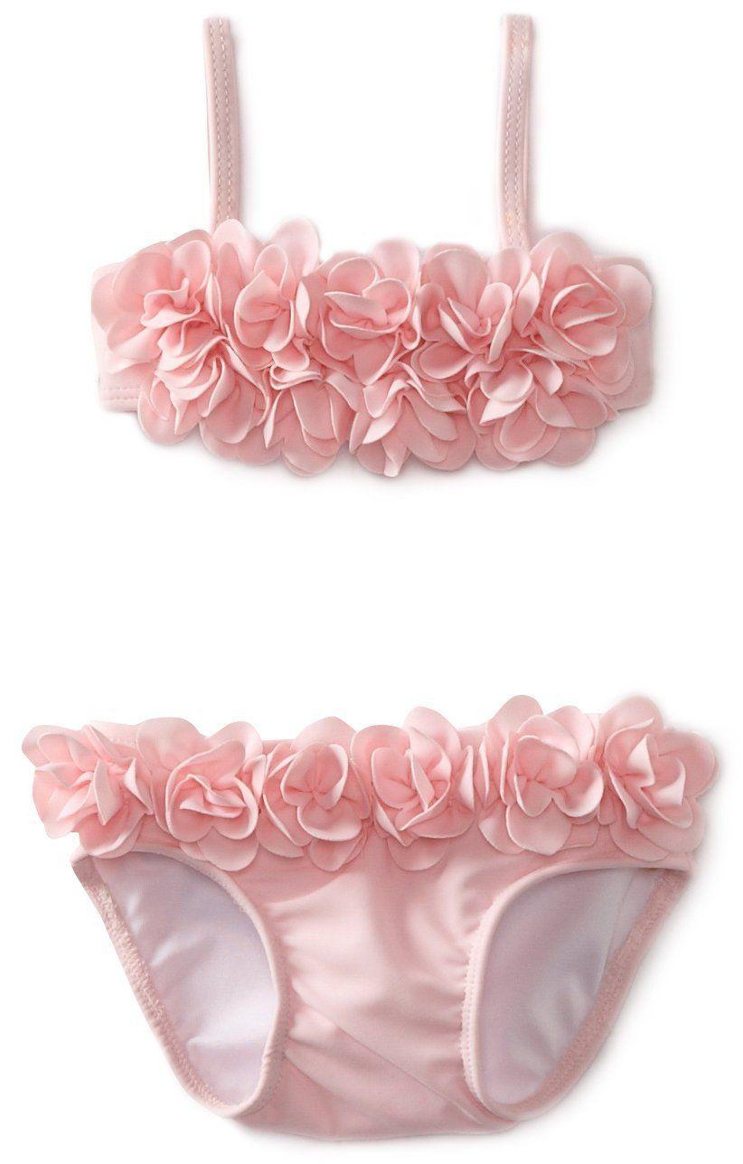 Kate Mack Baby Girl Blooming Roses Bikini