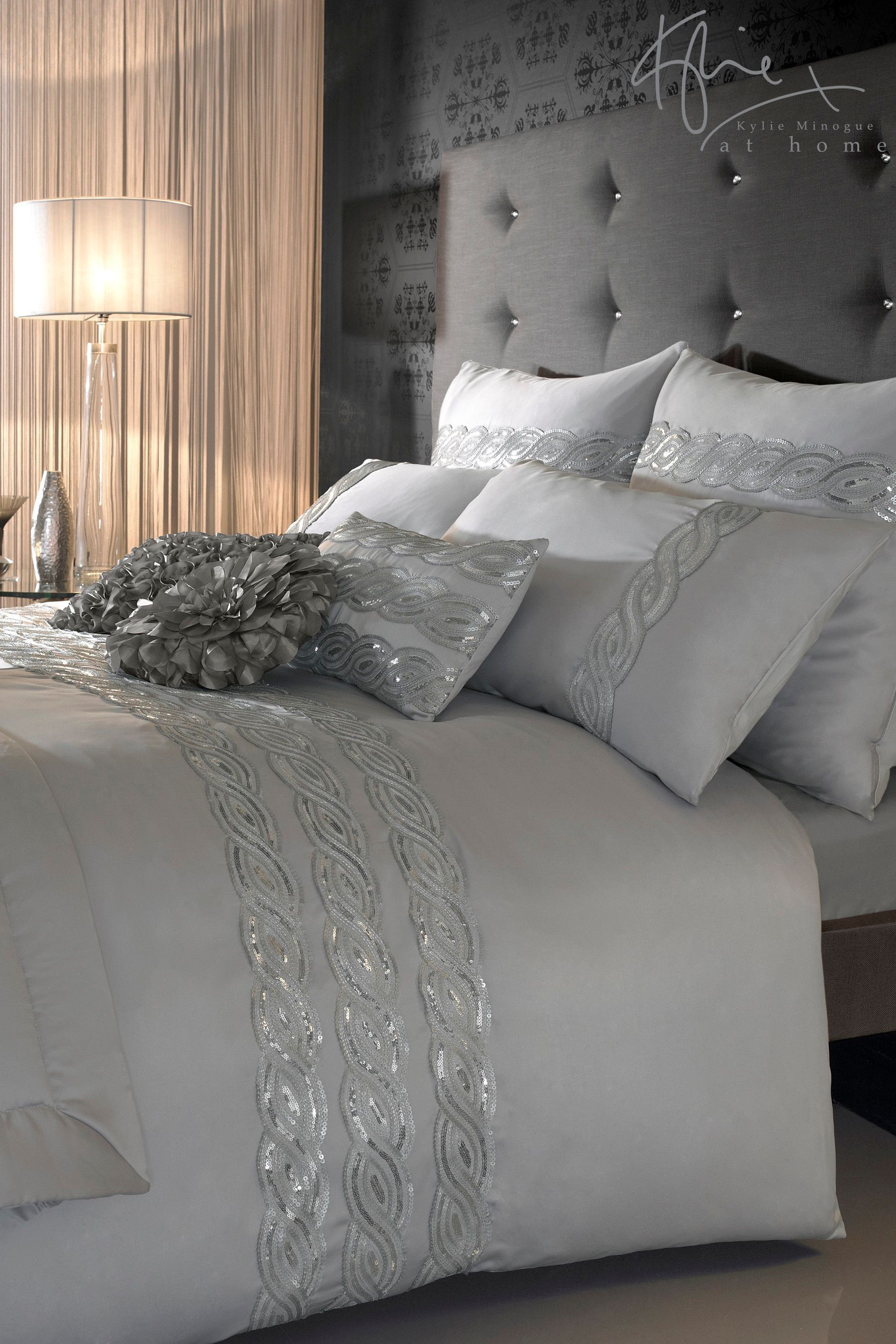 Grey White Silver Bedroom: Kylie Sequin Wave Duvet From The Next UK Online Shop