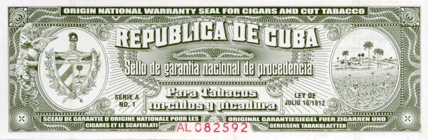 Look for the Cuban seal of authenticity to help you avoid fake Cuban - invitation letter for us visa cuba