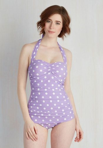 dec52d79b22c1 Beach Blanket Bingo One-Piece Swimsuit in Lavender. Inspired by our  favorite beach party film