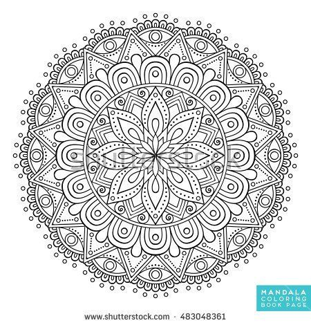 Flower Mandala Vintage Decorative Elements Oriental Pattern Vector Illustration Islam