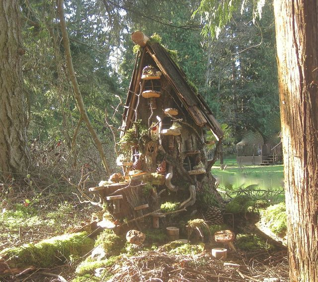 Gnome Tree Stump Home: Pin By Suzanna On Gnome Homes