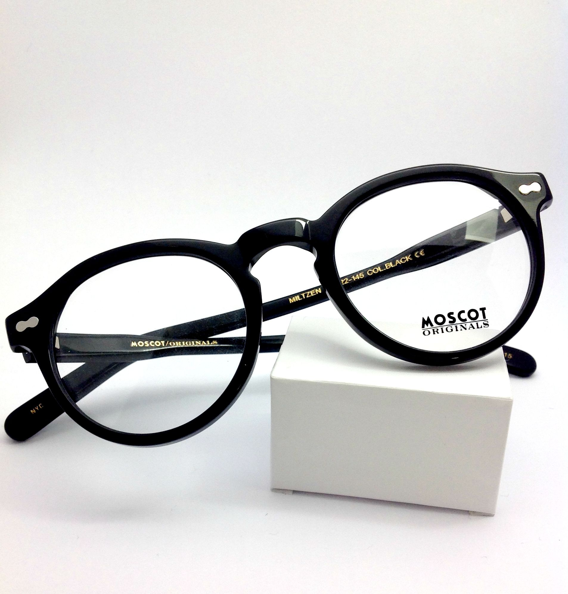 99354054a94 Go a little bit different with this strong Moscot Original frame Miltzen in  black. size 46x22. Available at www.linklaterwarren.co.uk  Glasses  moscot  ...
