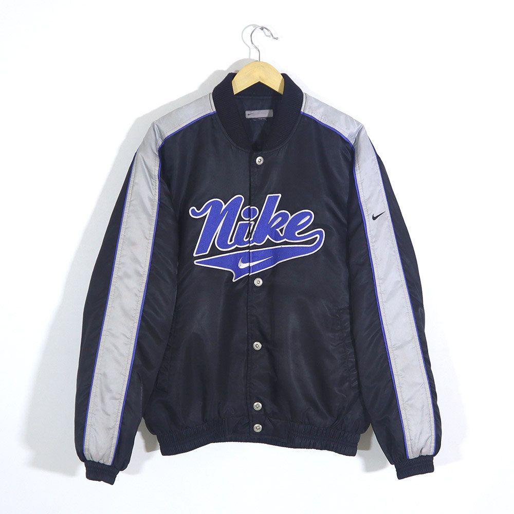 Rare Vintage 90s Nike Bomber Jacket Vintage Nike Varsity Jacket Color Black Gray Size L Lar Bomber Jacket Vintage Nike Bomber Jacket Nike Varsity Jacket [ 1000 x 1000 Pixel ]
