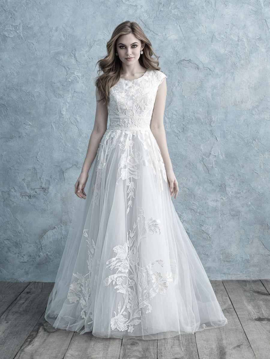 Z Allure M621 Sz 6 Ivory Plat 1198 Available At Debra S Bridal Jacksonville Fl 32256 Contac Allure Bridal Ball Gown Wedding Dress Modest Wedding Dresses
