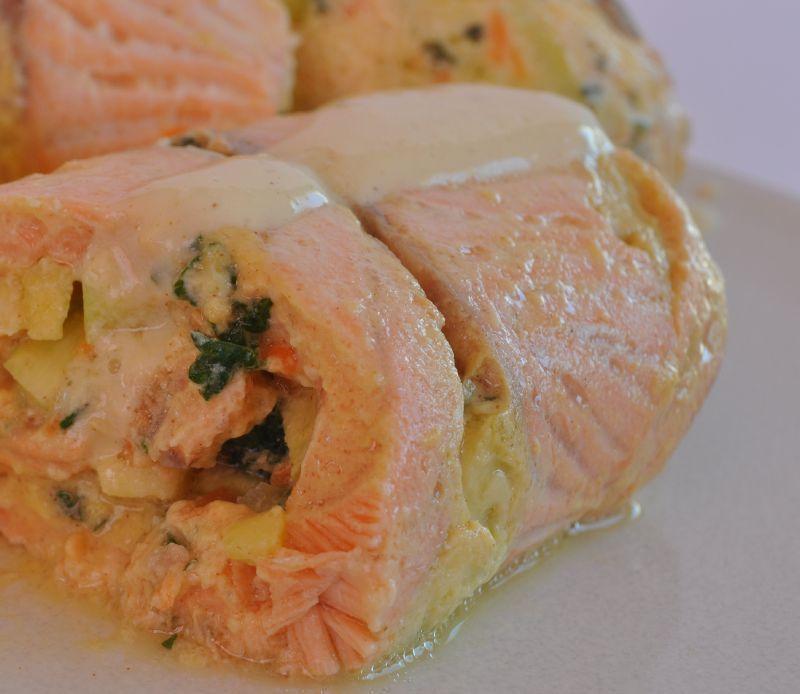 Paupiettes de saumon farcies aux l gumes cuisson vapeur - Cuisiner des paupiettes ...