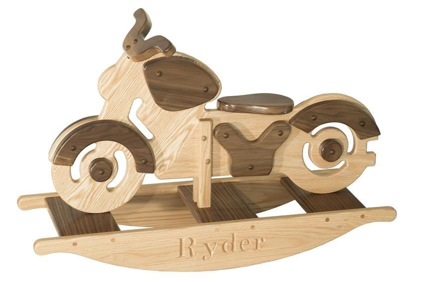 Amish Wooden Kids Motorcycle Rocker Kids Toys Toys