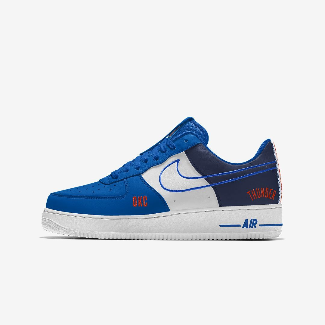 low priced a4646 e8d4f Nike Air Force 1 Low Premium iD (Oklahoma City Thunder) Men s Shoe Size 3.5  (Multi-Color)