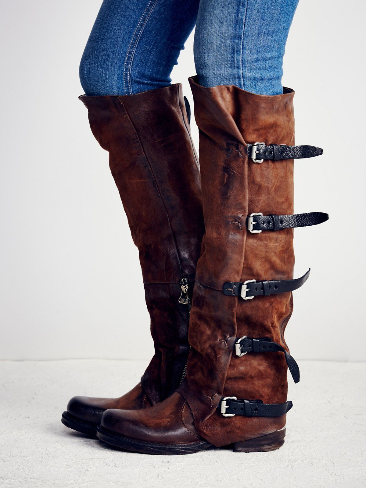 aa3bc2f5600 A.S. 98 Light Brown Tatum Over the Knee Boot at Free People Clothing  Boutique