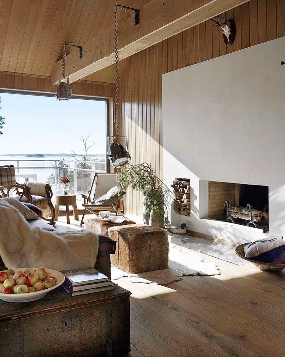 Nordic Cabin Inspiration Cabin Living Room Decor Cabin Interiors Scandinavian Cabin