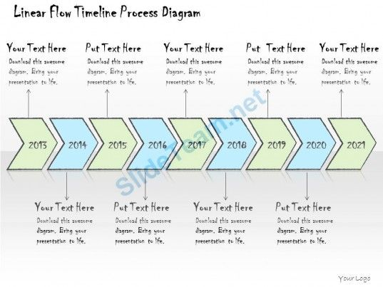 1113 business ppt diagram linear flow timeline process diagram Project Flow Chart for Timeline