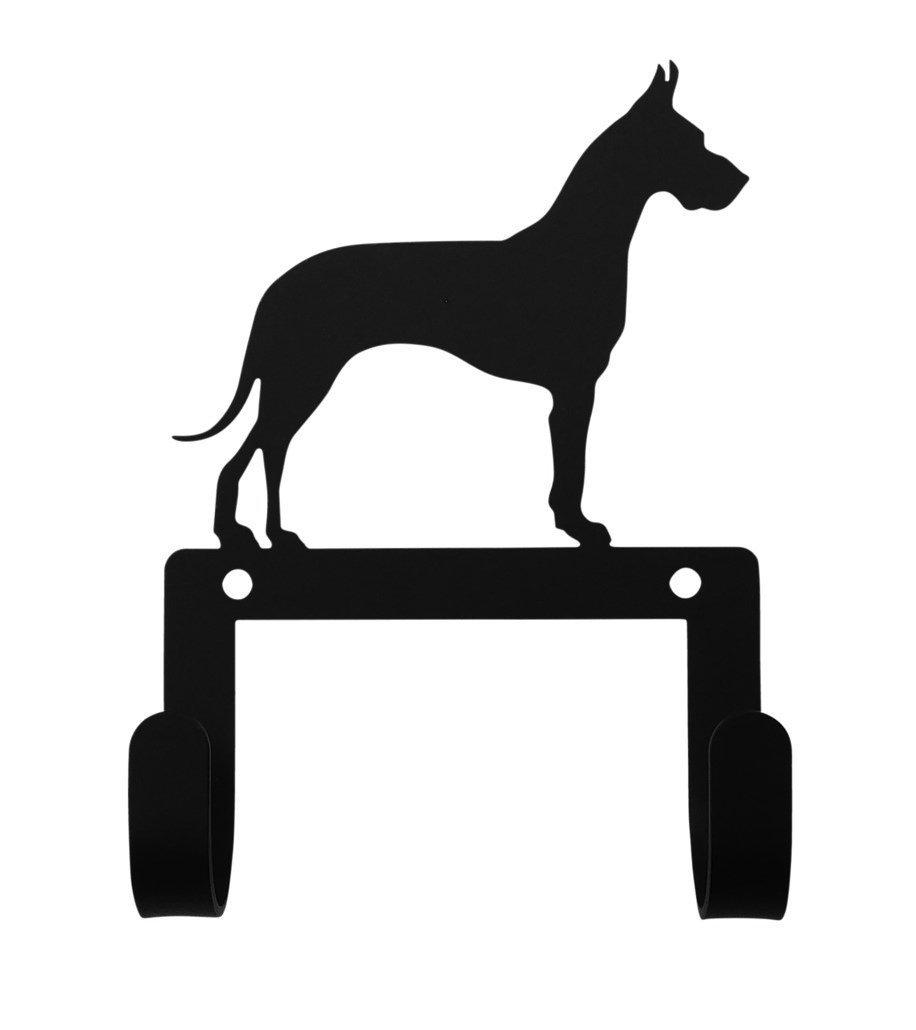 Wrought Iron Great Dane Dog Leash Collar Wall Hook Wrought