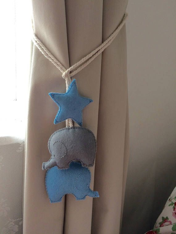 Elephant Curtain Ties Nursery Tie Backs