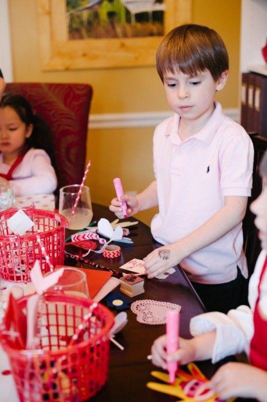 Card Making Party Ideas Part - 34: DIY | Valentine Crafts | Kids Party | Valentine Card-Making Party | Natalie  Bradley