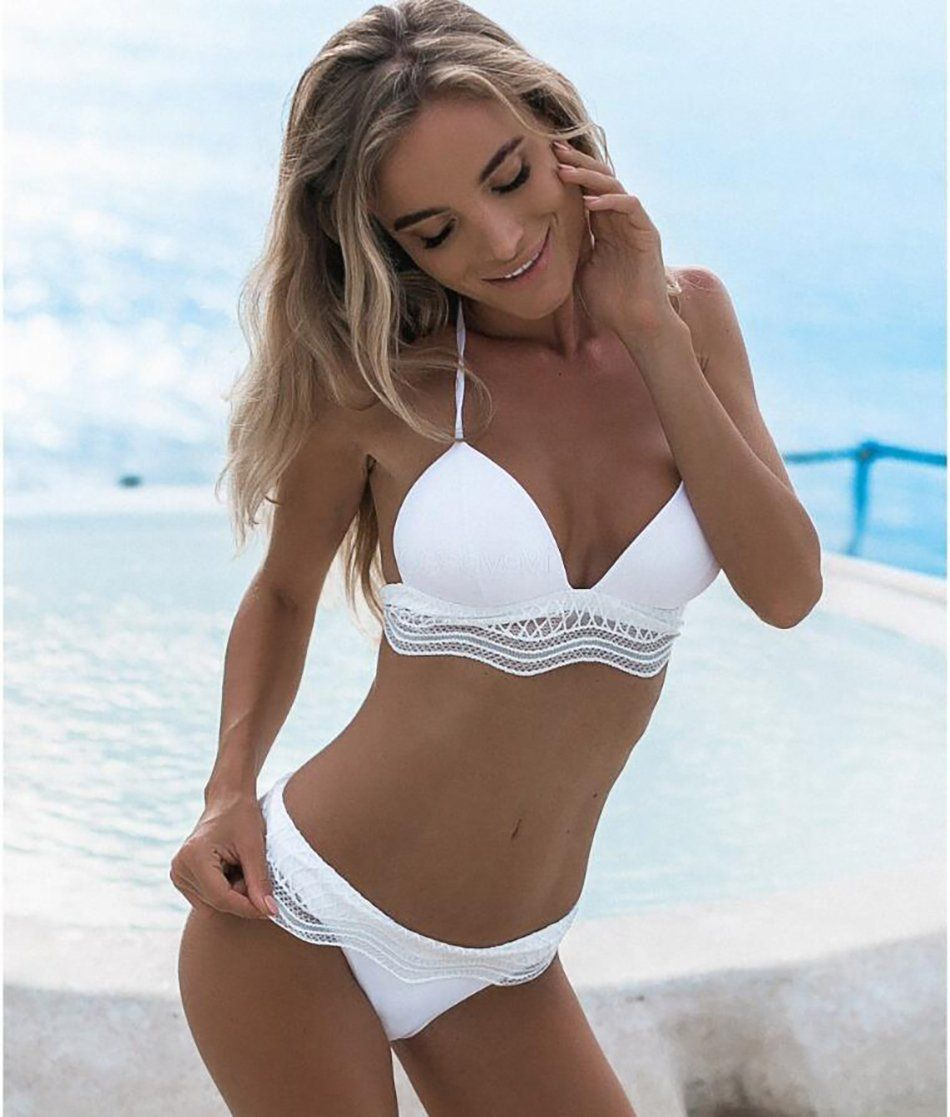 629aee0775f82 ... Summer 2018 Swimwear Trends Women s White Lace Push Up Beach Bikini  Swimsuit on Sale by PesciModa Details  Swimsuit Type  Bikinis Set