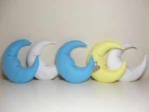 Molde para hacer bonitas y comodas almohadas en forma de luna.